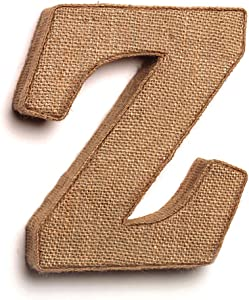 """The Country House Collection 7"""" Primitive Wall Decor Letters (Burlap, Z)"""