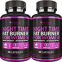 (2 Pack) Night Time Fat Burner - Effective Weight Loss Pills - Powerful Fat Burners for Women - Sleep Aid Diet Pills…