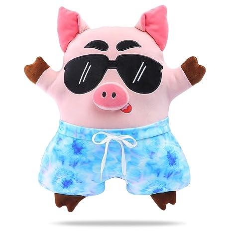 Amazon.com: DRMOOD Pig Almohada de felpa, lindo relleno de ...