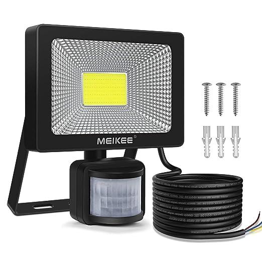 MEIKEE Foco Led Exterior con Sensor de Movimiento 20W, Luz LED Iluminación Super Brillante 6500K, Lámpara Exterior IP66 Impermeable para Jardín,Patio, ...