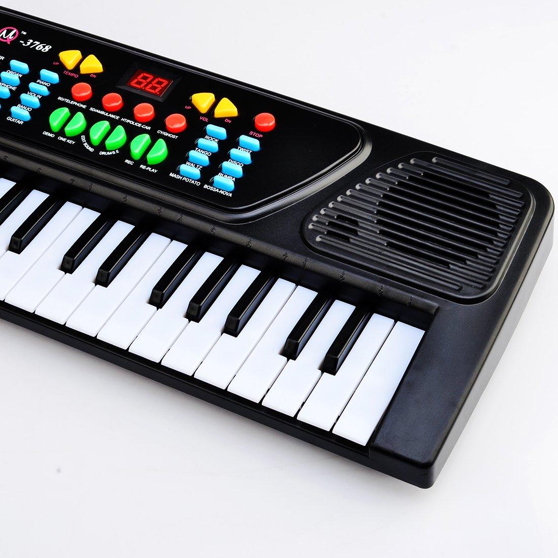 Amazon.com: Electronic Piano Musical Toy, PINCHUANGHUI ABS 16.9 X 6.7 X 2.2 Inch 37 Key Electronic Keyboard Piano Musical Toy for Children 3768 - Black: ...