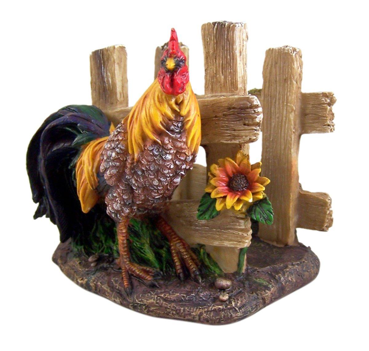 Farm Yard Rooster Napkin Holder 5 1/4 Inch by Decorative Napkin Holder (Image #1)