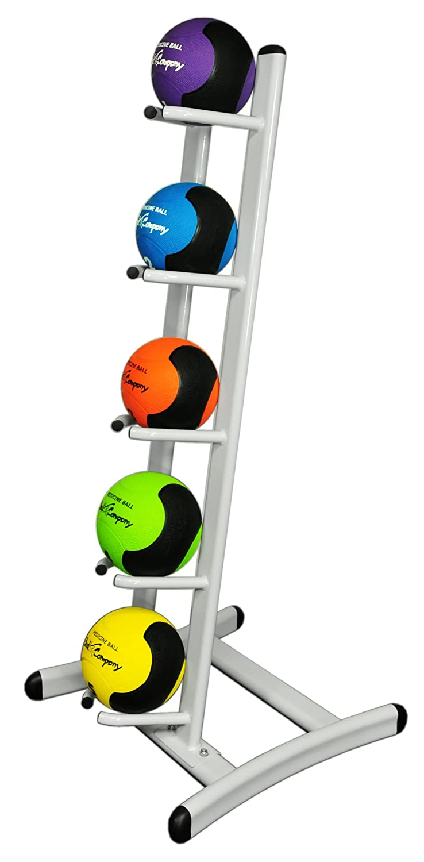 Bad Company Oval-Line Medizinball Ablage   Ballständer für 5 oder 10 Medizinbälle in Studio-Qualität   Weiß