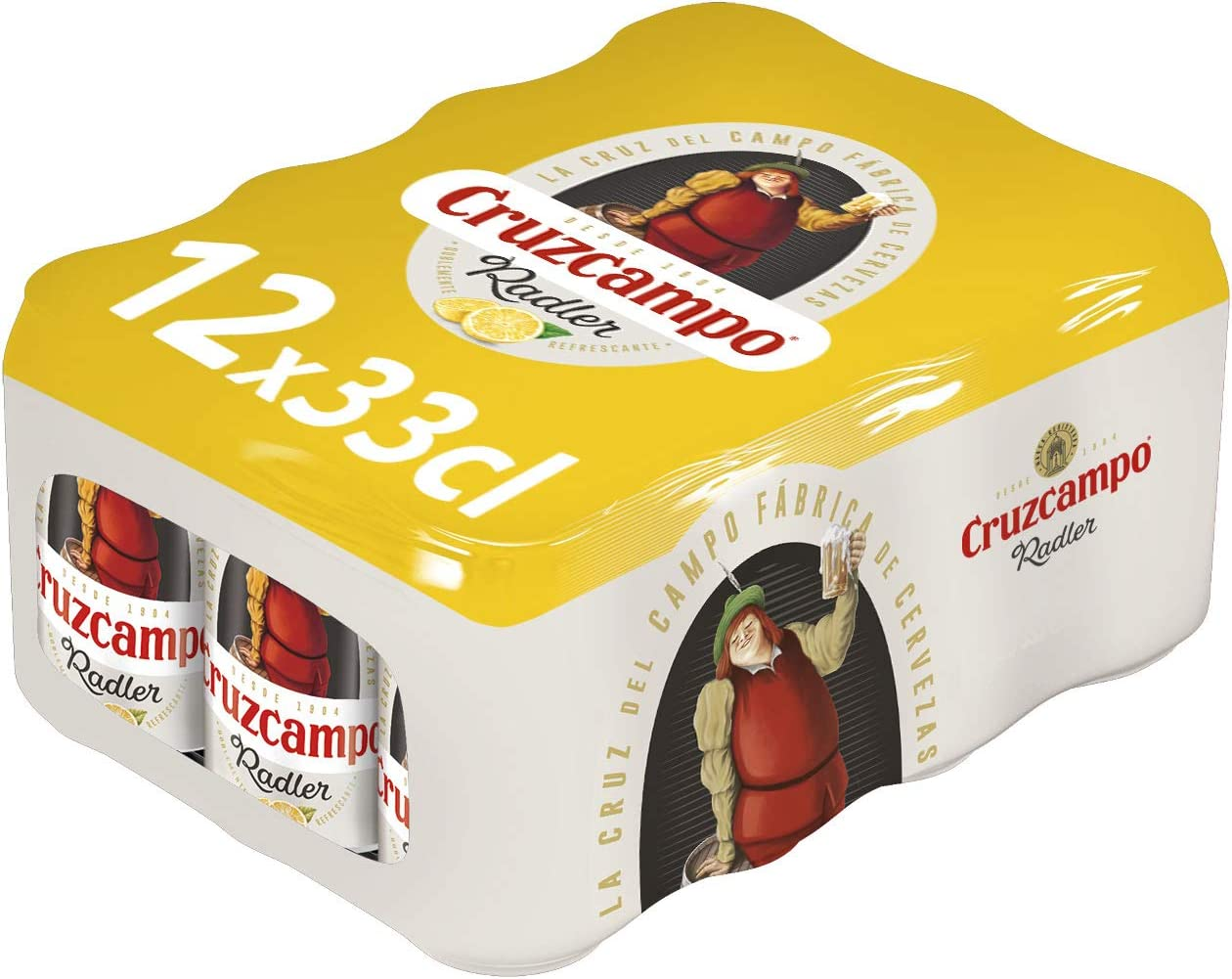 Cruzcampo Radler Cerveza Limón - Paquete de 12 x 330 ml (Total: 3960 ml)
