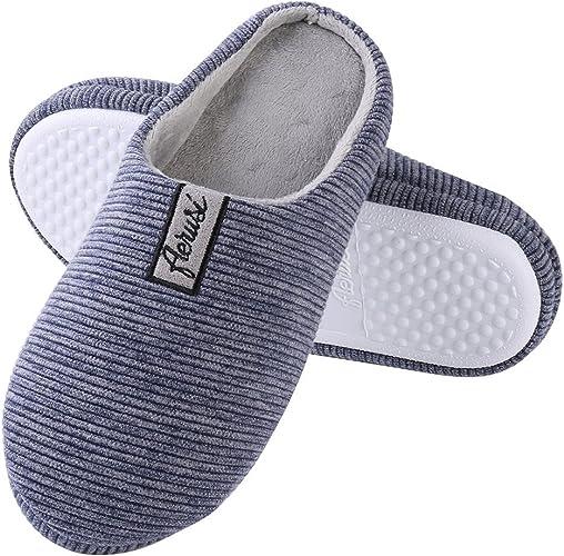 Memory Foam Mule Slippers Cushioned Slip On House Shoes  Womens