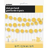 Unique Paper Garland, Sunflower Yellow