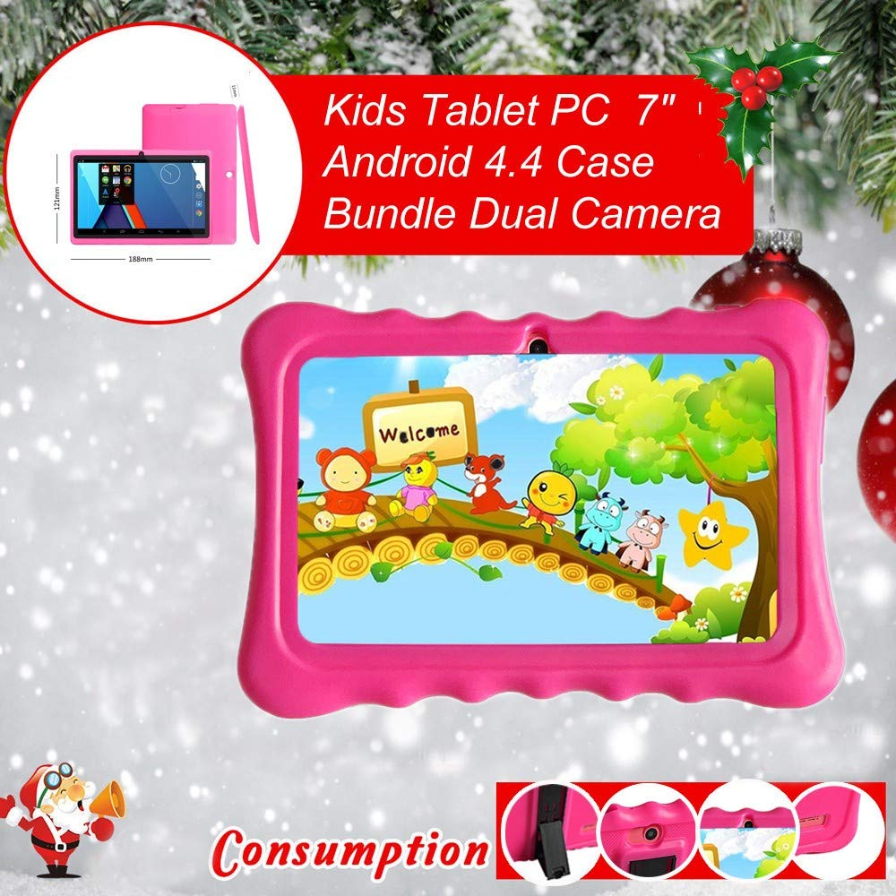 Arrowsy Kids Tablet PC 7 Android 4.4 Case Bundle Dual Camera 1.2Ghz Wi-Fi Bonus Items - US Stock by Arrowsy