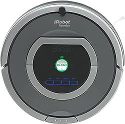 iRobot Roomba 782 Robot Aspirador, Alto Rendimiento de Limpieza, Programable, Limpia Varias Habitaciones, Atrapa el Pelo de Mascotas, Plata
