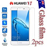 [2-Pack] Huawei Y7 Tempered Glass LCD Screen Protector Film Guard