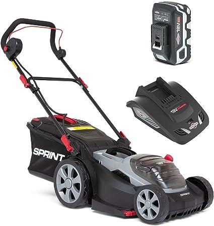 Sprint 18V Cortacésped Litio, 370P18V, 37cm, Incluyendo 1 x 5Ah Batería y Cargador, 37 cm