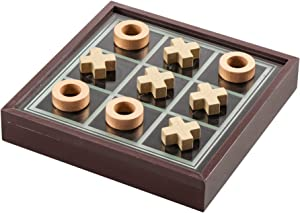 Elle Decor Elle Tic Tac Toe Game, Brown