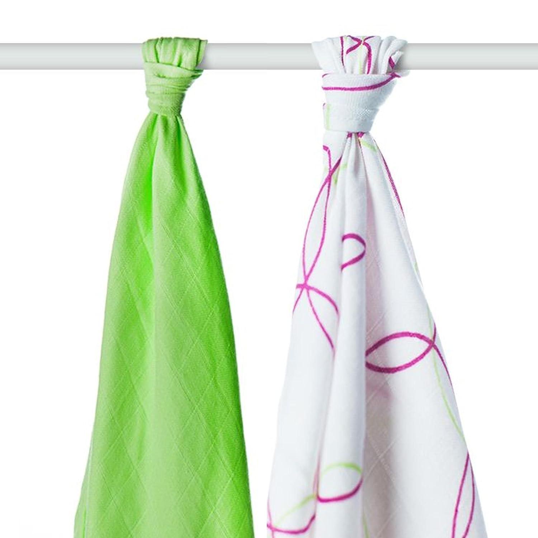 XKKO BMB bambú Toallas Círculos Magenta y cal teñido 90 x 100 cm (juego de 2): Amazon.es: Bebé