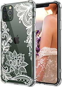 Cutebe Clear Case for iPhone 11 pro, Shockproof Series Hard PC+ TPU Bumper Protective Case for Apple iPhone 11 Pro 5.8 Inch White