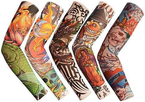 NuanNuan 5 Piezas Manga del Tatuaje Mangas del Brazo Rock ...