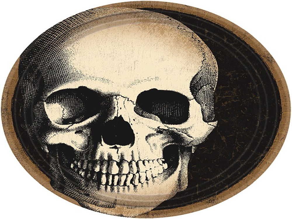 360 Ct 751346 Boneyard Skull Round Plates 9 TradeMart Inc