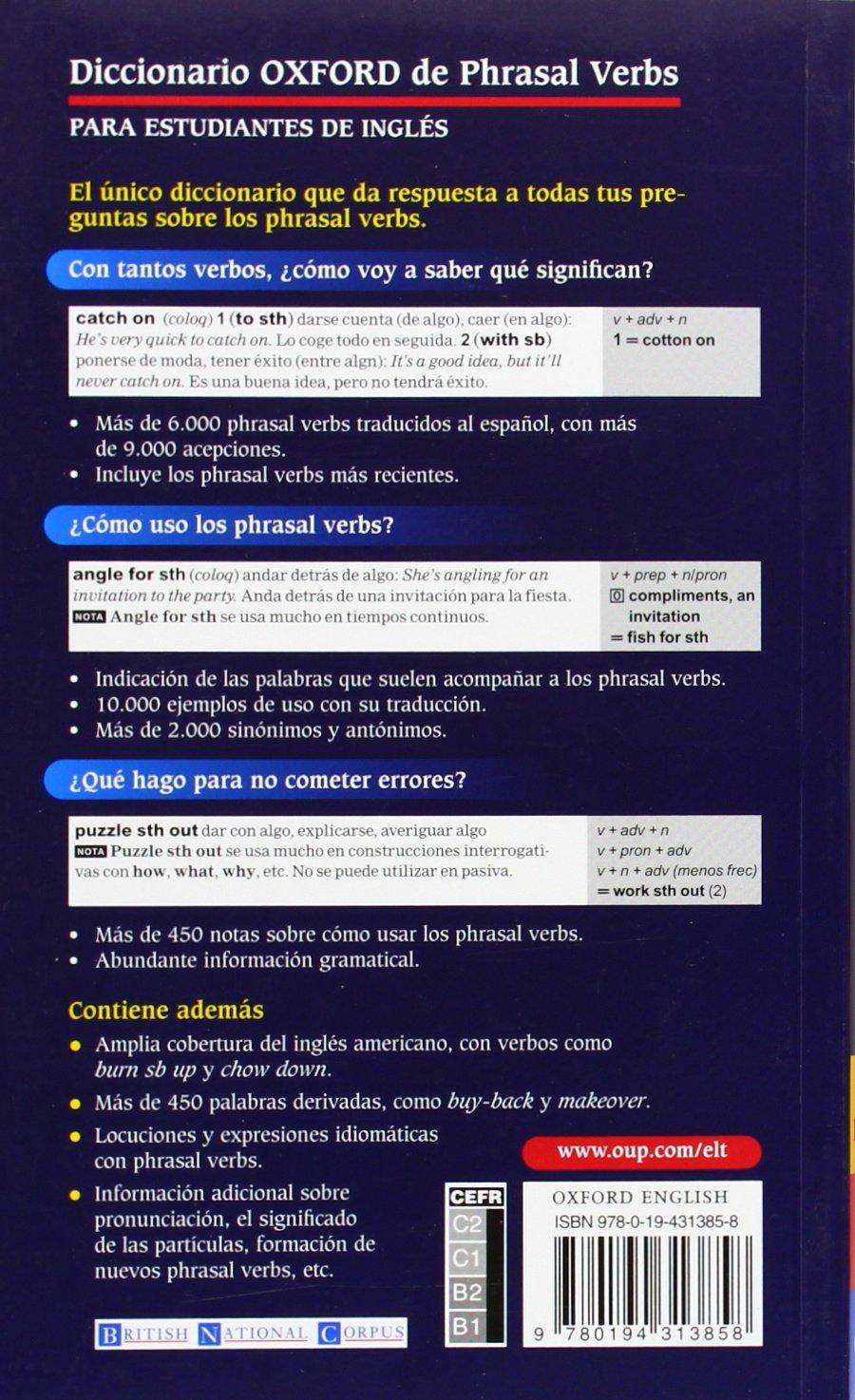 Amazon.com: Diccionario Oxford de Phrasal Verbs (para Estudiantes de Ingles)  (9780194313858): Angeles Perez Alonso: Books