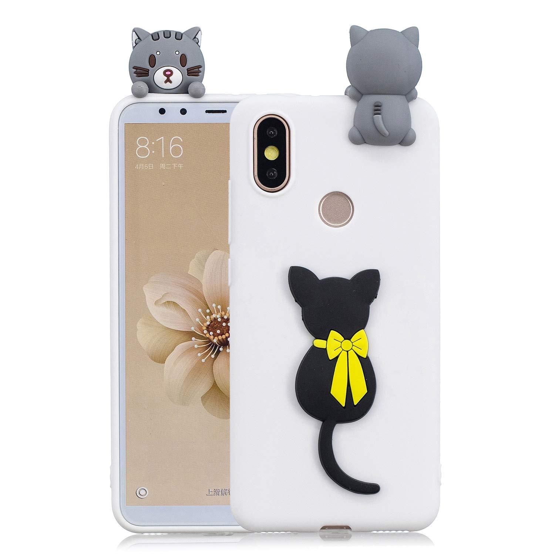 HopMore Coque Xiaomi Redmi S2 Silicone Souple 3D Design Motif Panda Animal Drô le Mignonne Etui Redmi S2 É tui Antichoc Ultra Mince Fine Housse Protection pour Fille Femme - Ananas