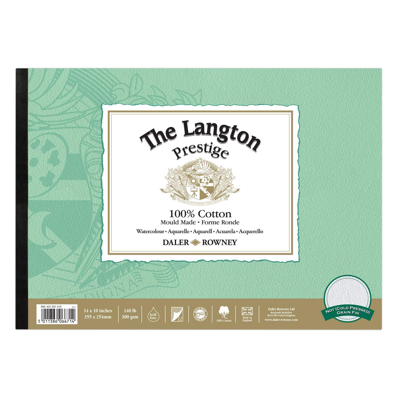 "Hot Pressed Daler Rowney Langton Prestige 140lb Pad 12 x 9/"""
