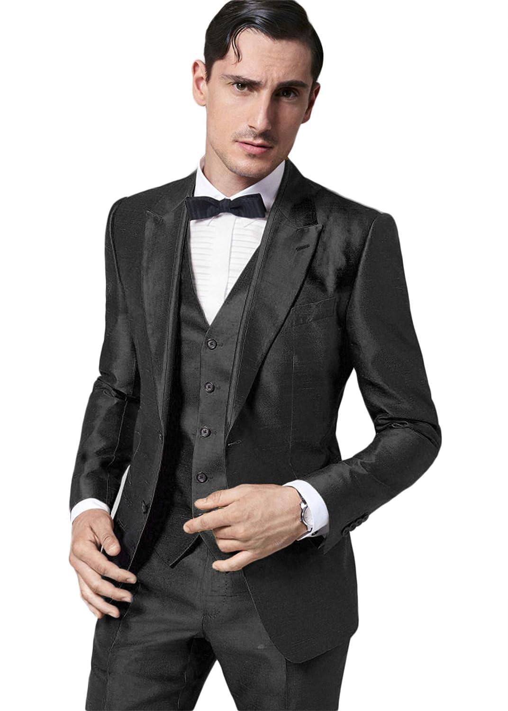 Amazon.com: Setwell - Traje de boda para hombre de lujo para ...