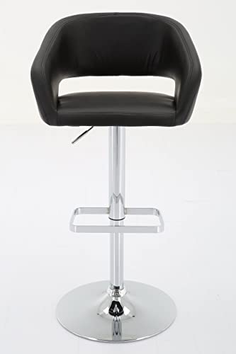 Vogue Furniture Direct Adjustable Leather Barstool, Black