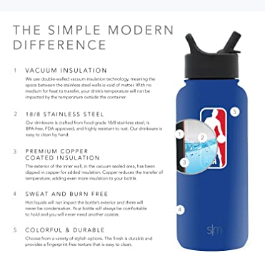 Texas Tech Red Raiders Gifts for Men Women Dads Leakproof Travel Tumbler Stainless Steel Simple Modern 32oz Summit Water Bottle with Straw Lid