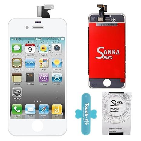 962f1b63220 Sanka LCD Pantalla Táctil con Marco de Digitalización Asamblea Pantalla de  Recambio para iPhone 4 -