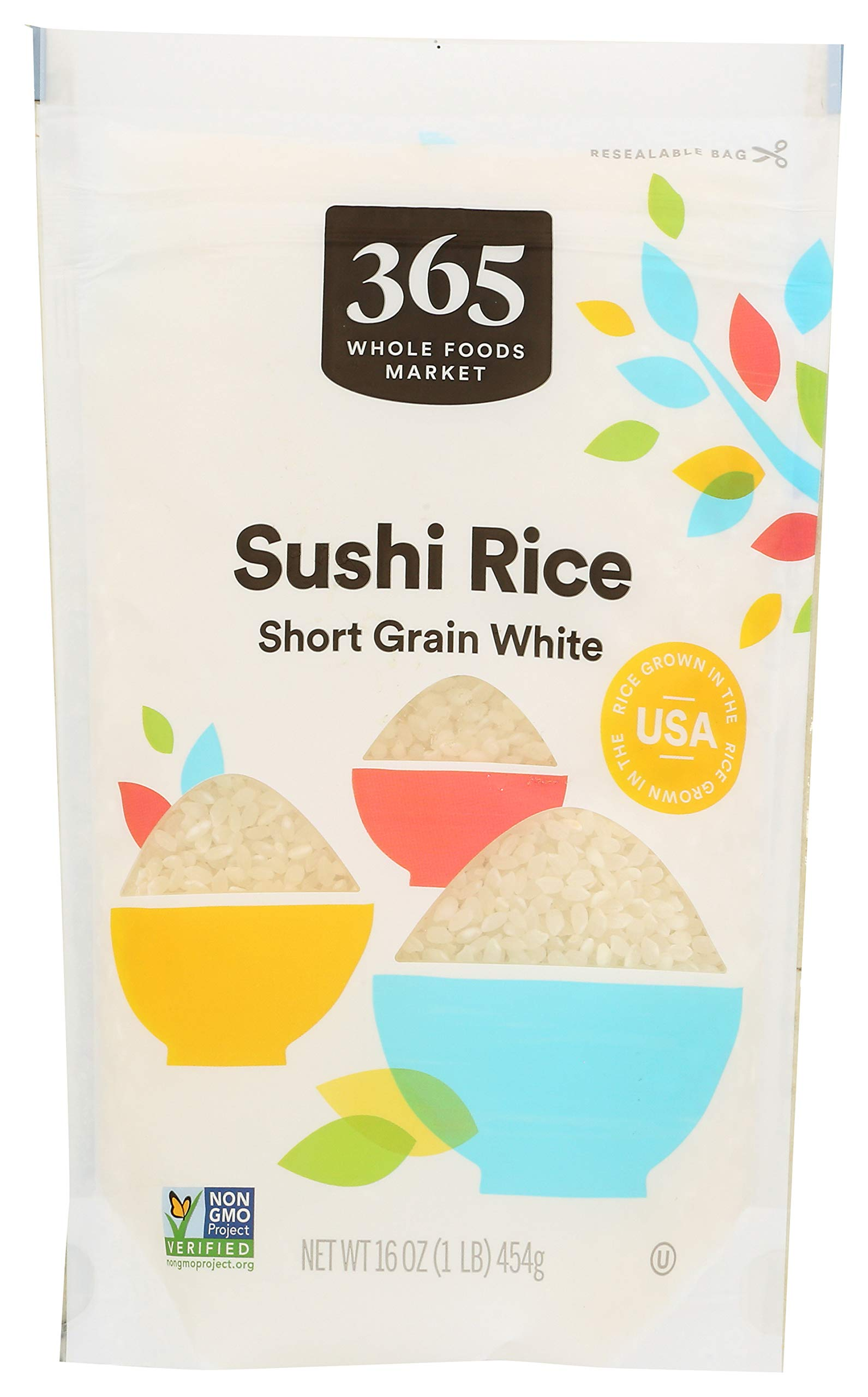 365 by Whole Foods Market, Short Grain Rice, White Sushi, 16 Ounce