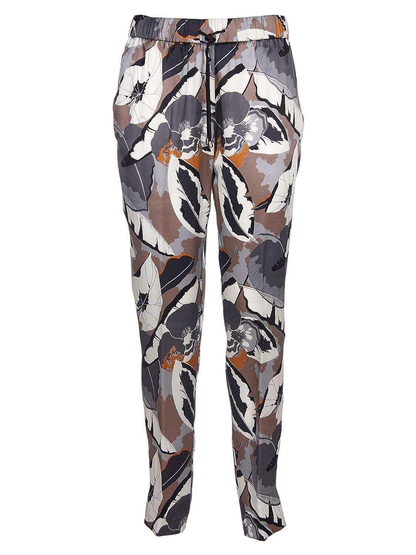 Brand Size 42 FABIANA FILIPPI Women's PA79619H591VRU Grey Silk Pants