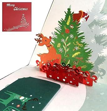 Tarjetas de Navidad, Deesos tarjeta 3D pop-up tarjeta de ...