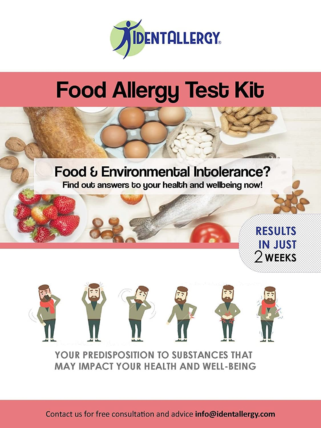 IdentAllergy - Food Sensitivity and Intolerance Test (PLUS hair mineral,  hormone, vitamin, mineral and