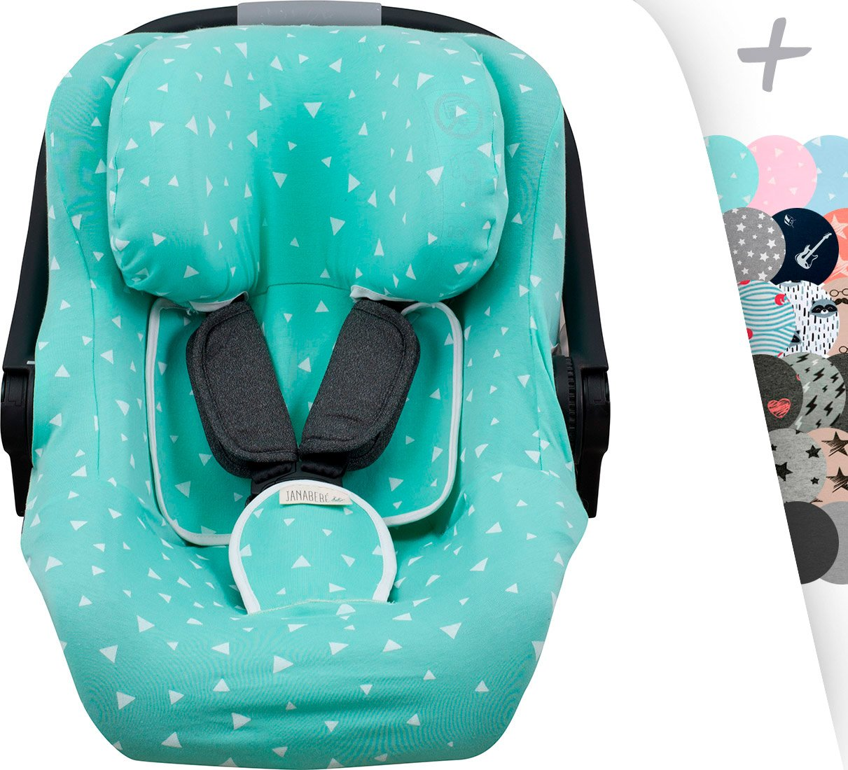 Cover Liner for Jané Koos I-Size, Concord Neo Air Safe and Romer Baby Safe Janabebe® (Crabby)
