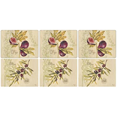 Pimpernel Olives And Figs Placemats 30.5cm By 23cm (Set Of 6)