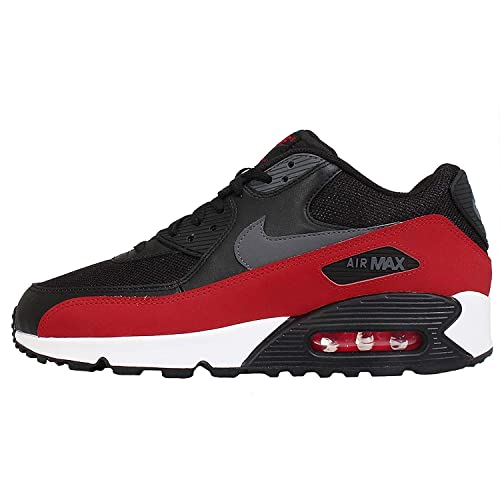 promo code e96cd d06ca Nike AIR MAX 90 Essential Men s Running Shoes Black Red Sneakers 537384-062  (