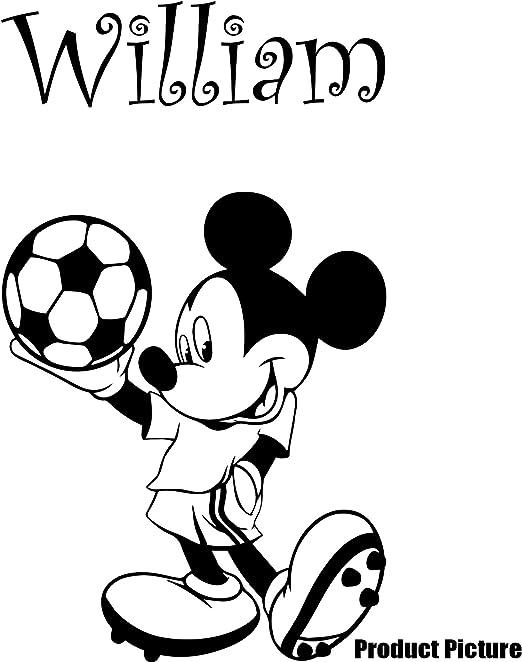 Mickey mouse con sus 60 cm x 35 cm elegir el nombre elegido color 18 colores