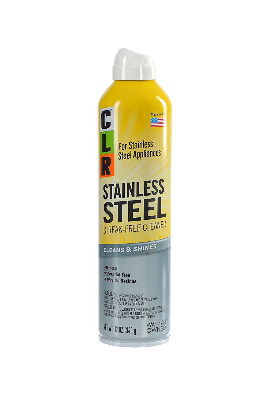 Amazon.com: CLR CSS-12 Stainless Steel Cleaner, 12 oz Aerosol Spray ...