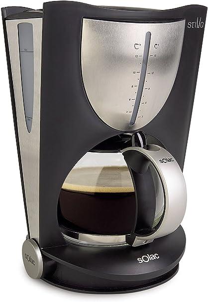 Solac CF4020, Negro, 850 W, 230 V, Acero inoxidable - Máquina de café: Amazon.es: Hogar