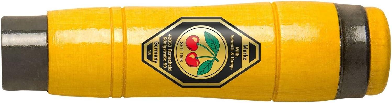 Kirschen 1980-140 Mango de cincel madera de haya, forma octogonal, 2 abrazaderas