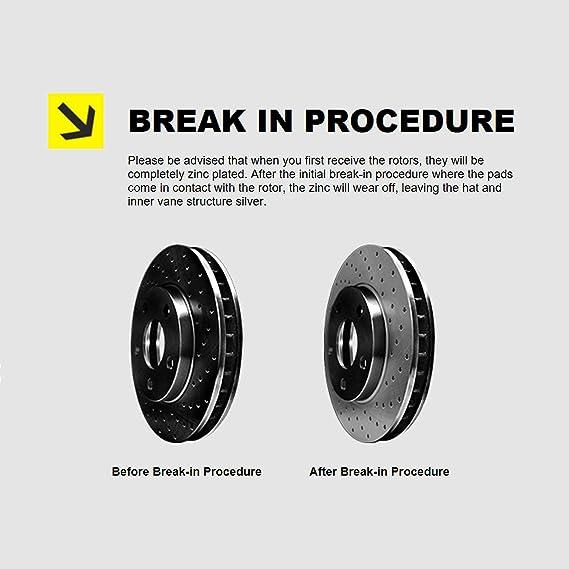 CJ7 Front  Drill Slot Brake Rotors+Ceramic Brake Pads Scrambler For Jeep CJ5