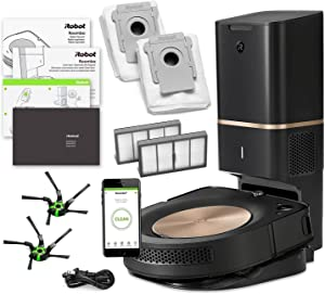 iRobot Roomba s9+ (s955020) Robot Vacuum Bundle with Automatic Dirt Disposal- Wi-Fi Connected, Smart Mapping, Ideal for Pet Hair (+1 Extra Edge-Sweeping Brush, 1 Extra Filter)