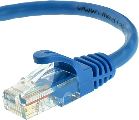 Blue SoDo Tek TM RJ45 Cat5e Ethernet Patch Cable for Samsung SCX-4725ELS Printer 25 ft