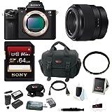 Sony Alpha a7II Mirrorless Digital Camera (Body Only) w/50mm F1.8 Lens Bundle