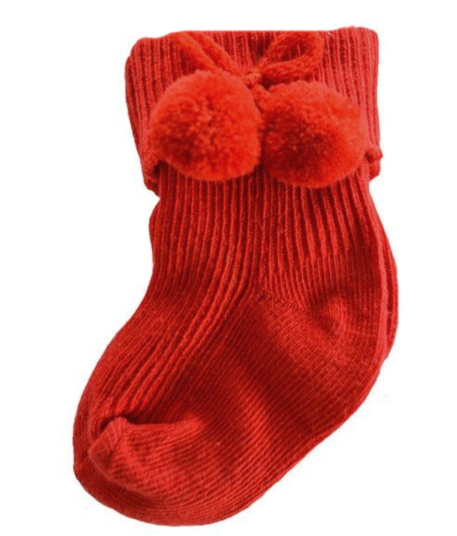 Baby Pom-Pom Short Ankle Socks Turn Down Babies Toddler Boys Girl