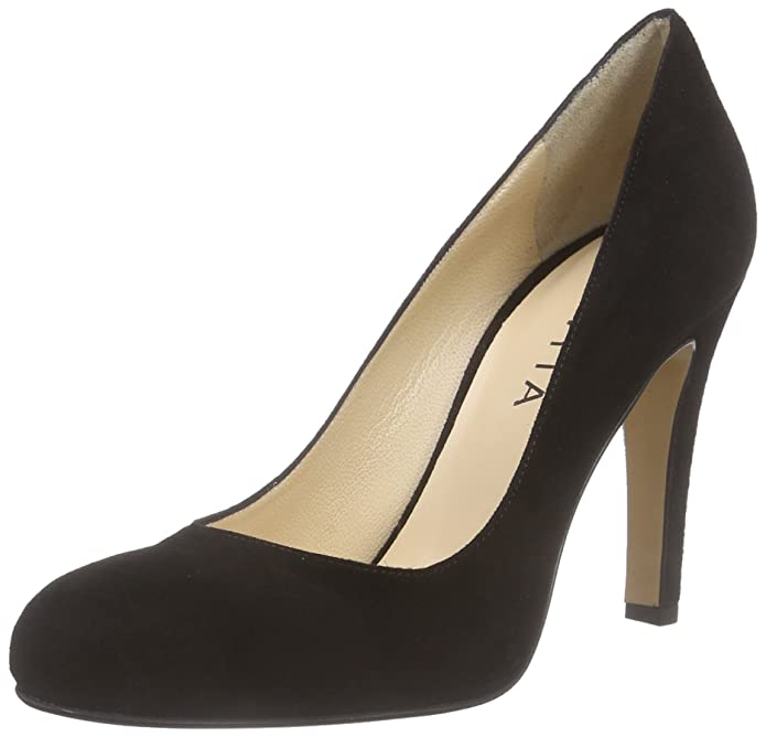 Evita Shoes Pump, Escarpins Bout Fermé Femme, Noir (Schwarz 10), 36 EU