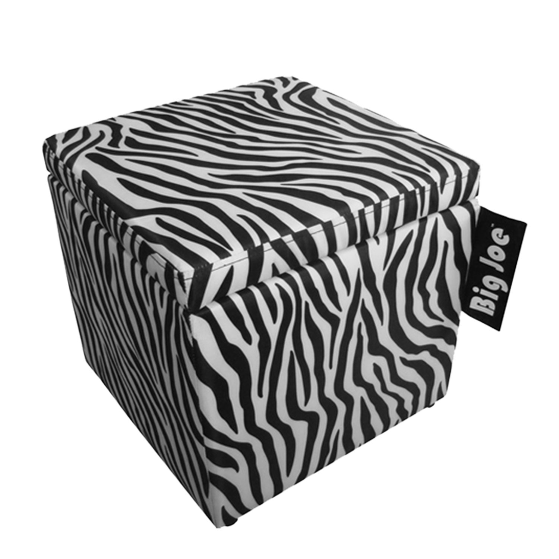Amazon.com: Big Joe Square Storage Ottoman, 15 Inch, Zebra: Kitchen U0026 Dining