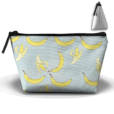 70%OFF Banana Pattern Toiletry Pouch Makeup Bag Trapezoidal Storage Travel Bag Phone Coin Purse Cosmetic Pouch Wallet Pencil Holder Zipper