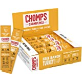 CHOMPS MINI Free Range Turkey Jerky Meat Snack Sticks, Keto, Paleo, Whole30 Approved, Low Carb, High Protein, Gluten Free, Su