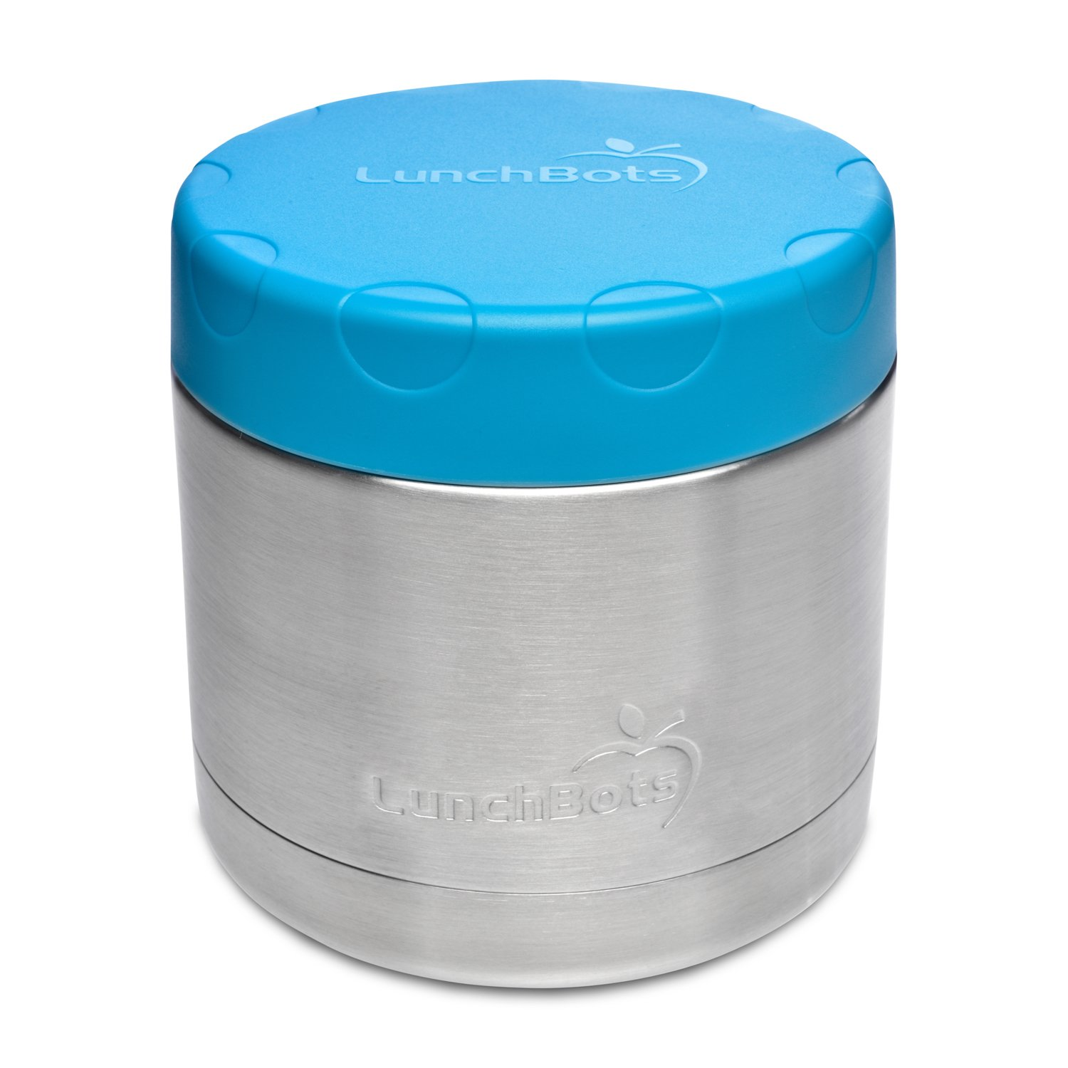 LunchBots Wide Thermal 16 oz. All Stainless Steel Bowl - Insulated Food Container Stays Hot 6 Hours or Cold for 12 Hours - Leak Proof Soup Jar for Portable Convenience - Aqua