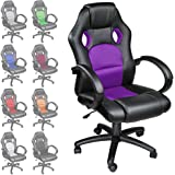 TECTAKE LUXURY OFFICE RACING CHAIR - different colours - (Purple)