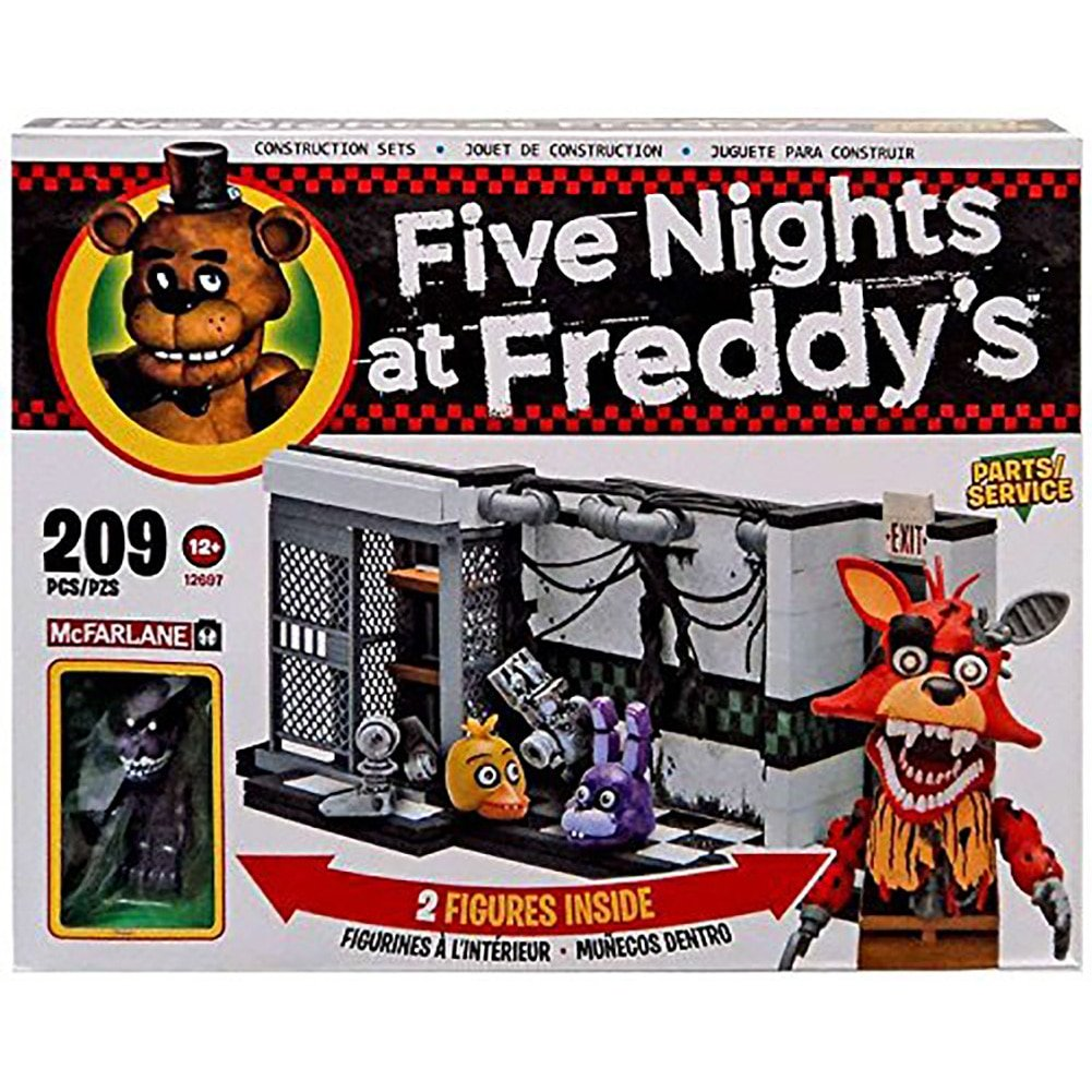 McFarlane Five Nights at Freddy's Parts Service Exclusive 209 piece building set   B071X9GKP7
