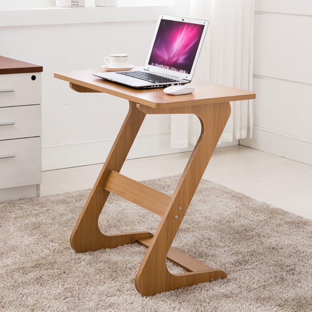 Petit Ordinateur Table De Chevet Ordinateur Portable Bureau Simple Secrétaire Famille Ezlife ( Couleur : Burly wood